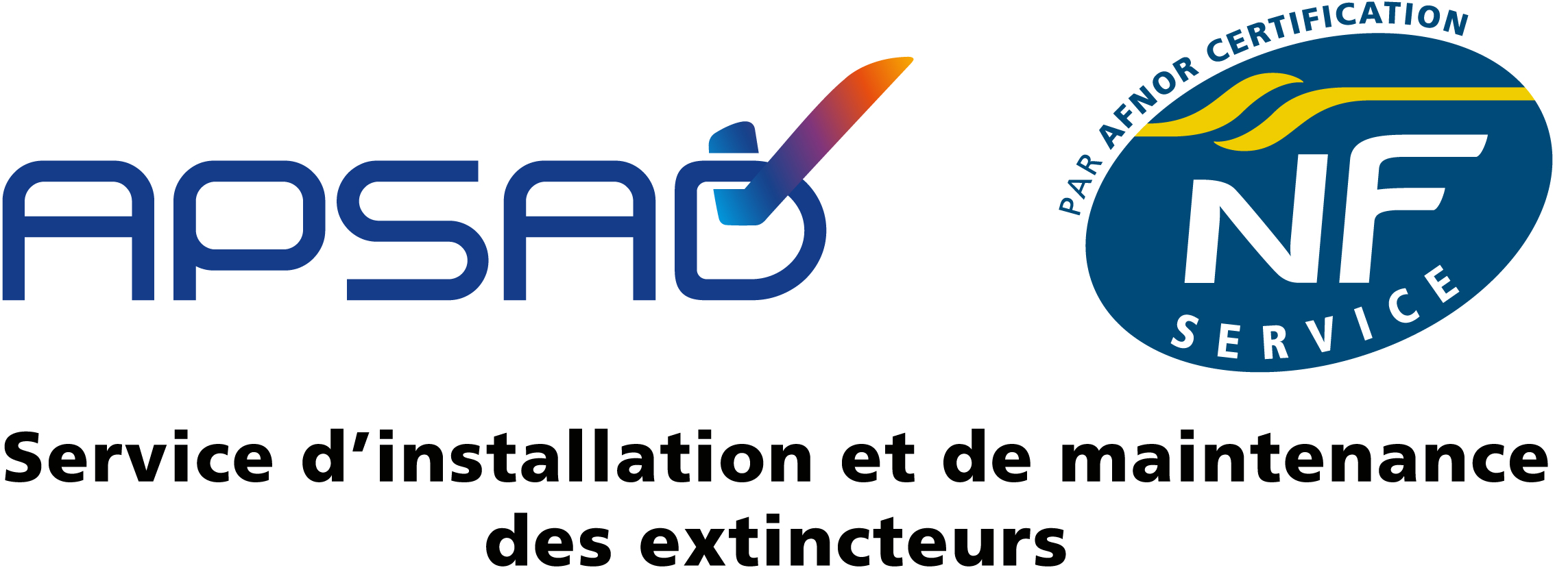 Logo APSAD NFService Extincteurs