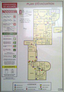plan évacuation et plan intervention Sécurité Incendie